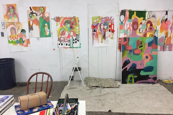 Kime's new studio in the high desert of California