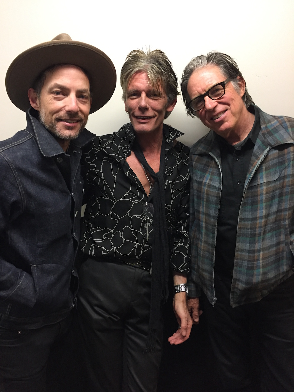 Jakob Dylan, Charlie Sexton, John Doe at the 2019 Austin Music Awards [photo: Krissy Teegerstrom]