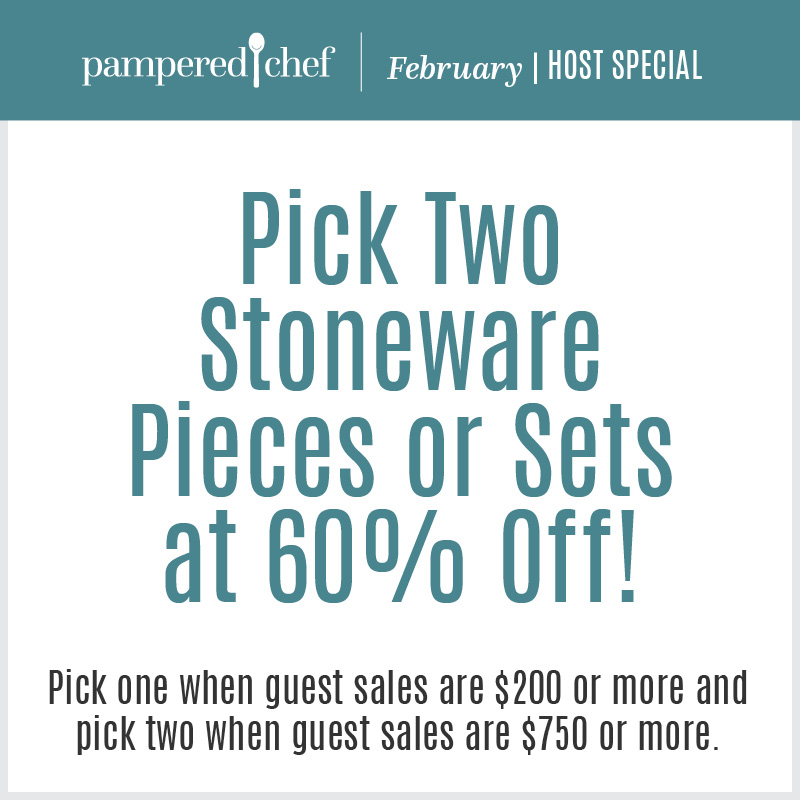 Date this in February, and take advantage of our crazy stoneware offer.