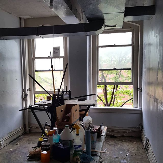 Major renovations are being done at Pegboard Press this week, including repainting the studio, setting up more efficient shelving and storage, and installation of track lighting!