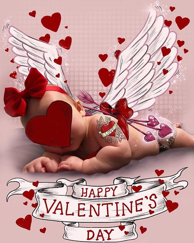 Happy Valentines Day from my very own little Cupid ❤️#Cupid #cherub #babygirl #photoillustration #valentinesday2019 #mummyartist ##illustratorsoninstagram