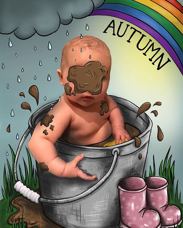 Be someone's rainbow 🌈🌧 My little Autumn sunshine. For anyone interested, I am now offering personalised illustrations featuring your baby/child's photo. Illustrations can be fully personalised to represent any scene/theme you have in mind. Please message me for more details ☺️(faces will not be covered over😂) #photoillustration #dripdripdroplittleaprilshowers #autumn #sunshine #rainbow #besomeonesrainbow #babyillustration #commissionsopen #commission #adropofmagicineveryline #mummyartist