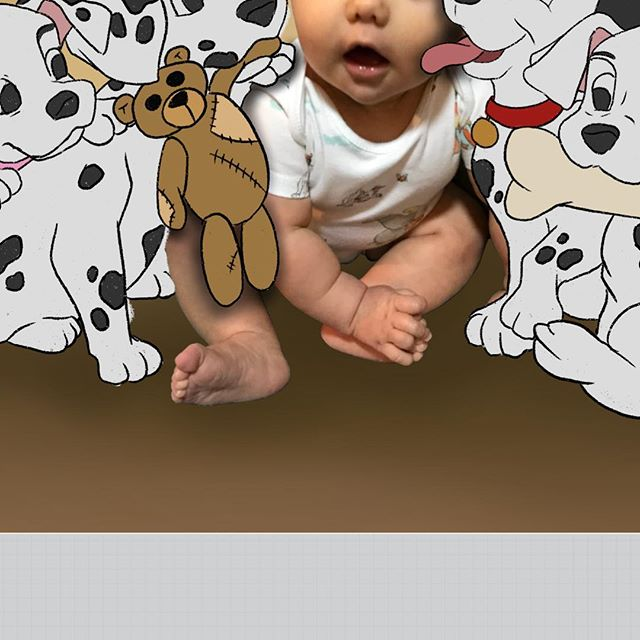 At it again 😊✏️which characters should I do next? #babyillustration #photoillustration #101dalmatians #illustratorsoninstagram #commissionsopen #disney #disneyart #disneydalmatians #cruelladevil #mummyartist #freelanceillustrator