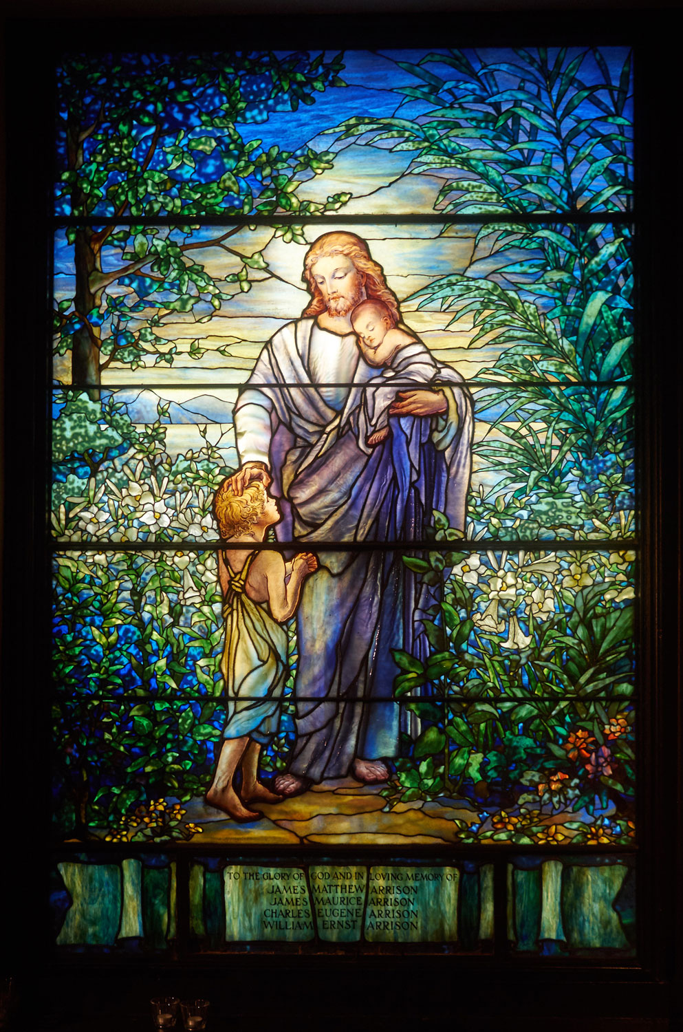 Tiffany Studios, Christ with the Children, 1913