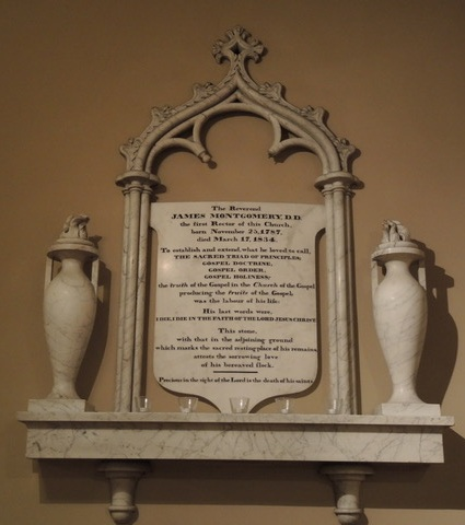 John Struthers, Rev. James Montgomery memorial, c. 1834