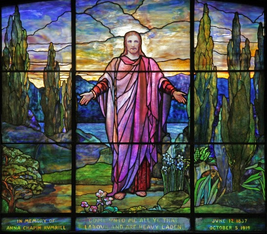 Stained-glass window from All Souls Unitarian Universalist Church