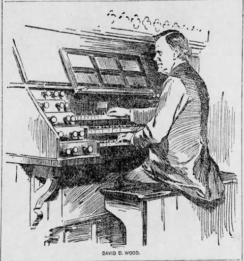 David D. Wood at St. Stephen's Simmons pipe organ in March 1894