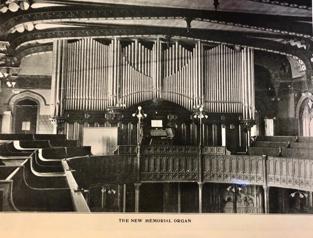 1907 view of Haskell organ