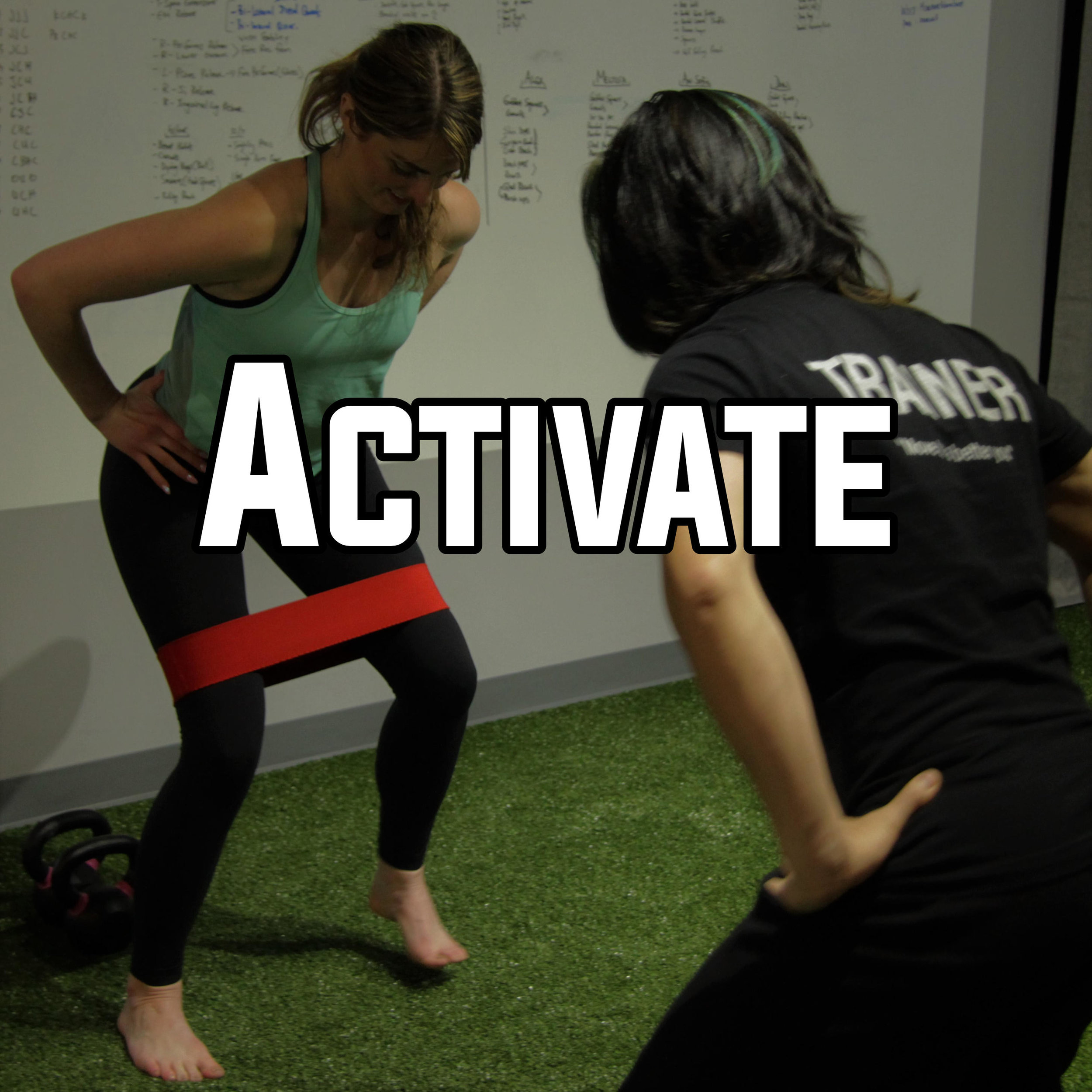 Activating the large muscle groups like the Glutes, Core and Lats are vital for everyday life, and even more important if we are working out and training hard. So we make sure you know the proper techniques to warm up and prep the body to handle load.