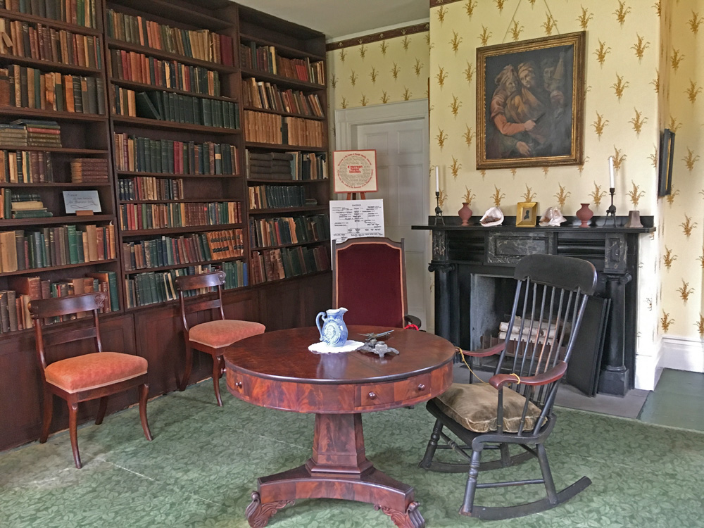 The study in Emerson's house, containing all original furnishings, including the table he used for much of his writing until later in life
