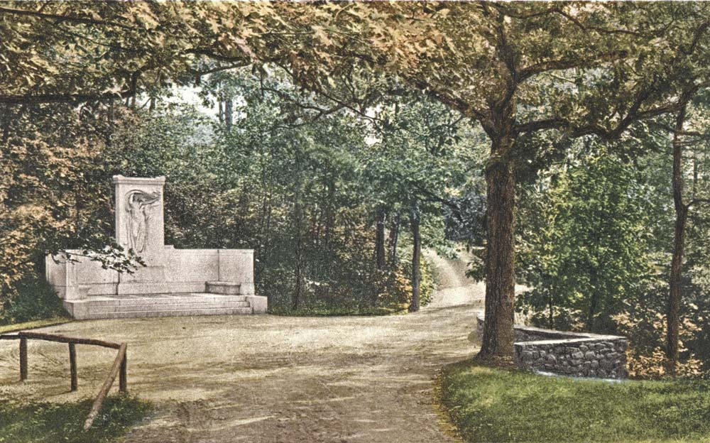 The Melvin Memorial, created by Daniel Chester French, in Sleepy Hollow Cemetery.