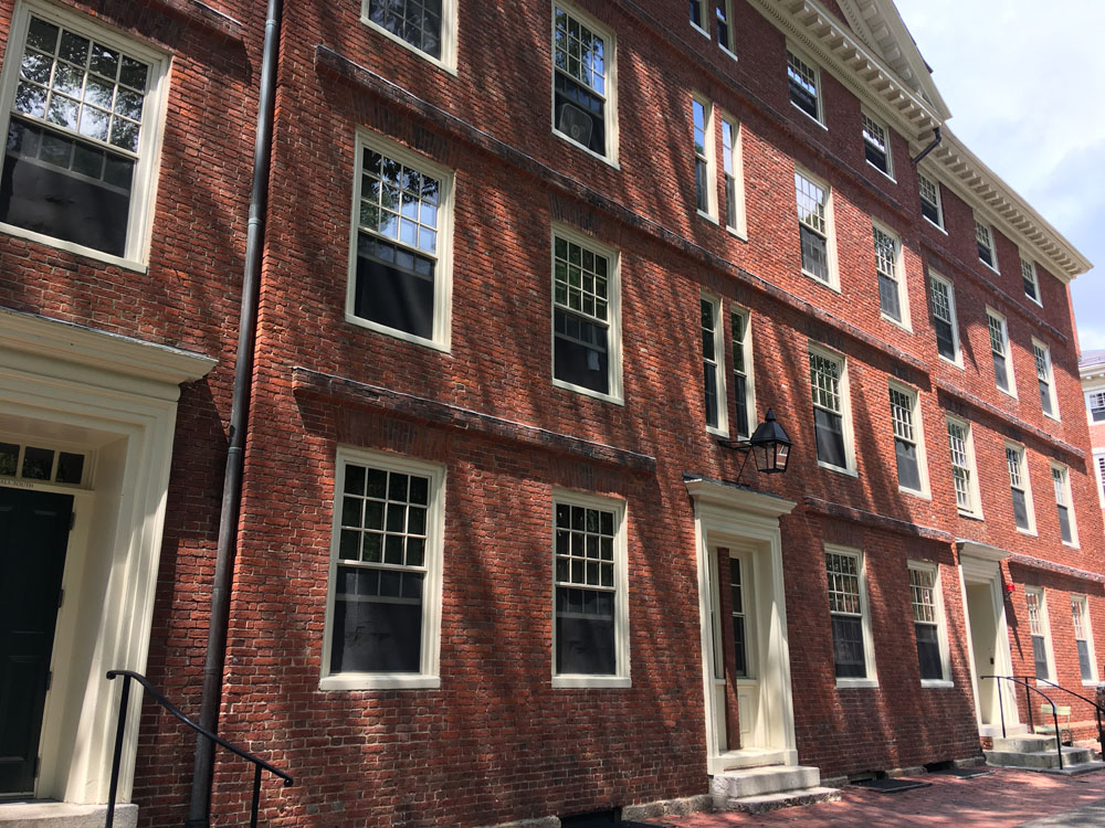 Emerson graduated from Harvard in 1821 and this was his dormitory, Hollis.
