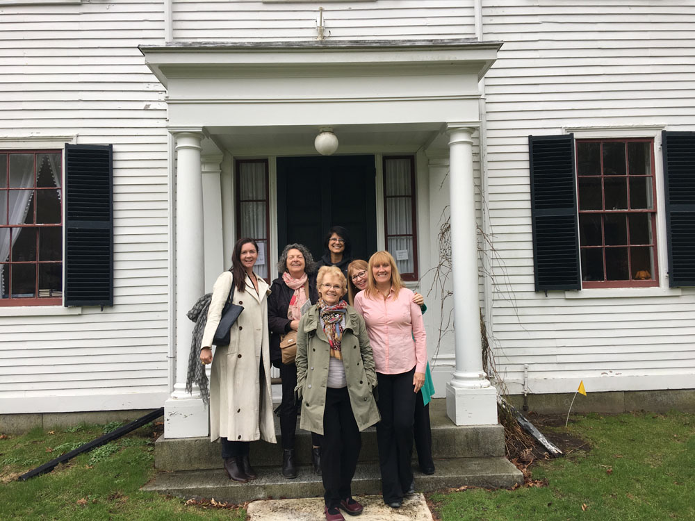 The Boxford Book Club visited the house.