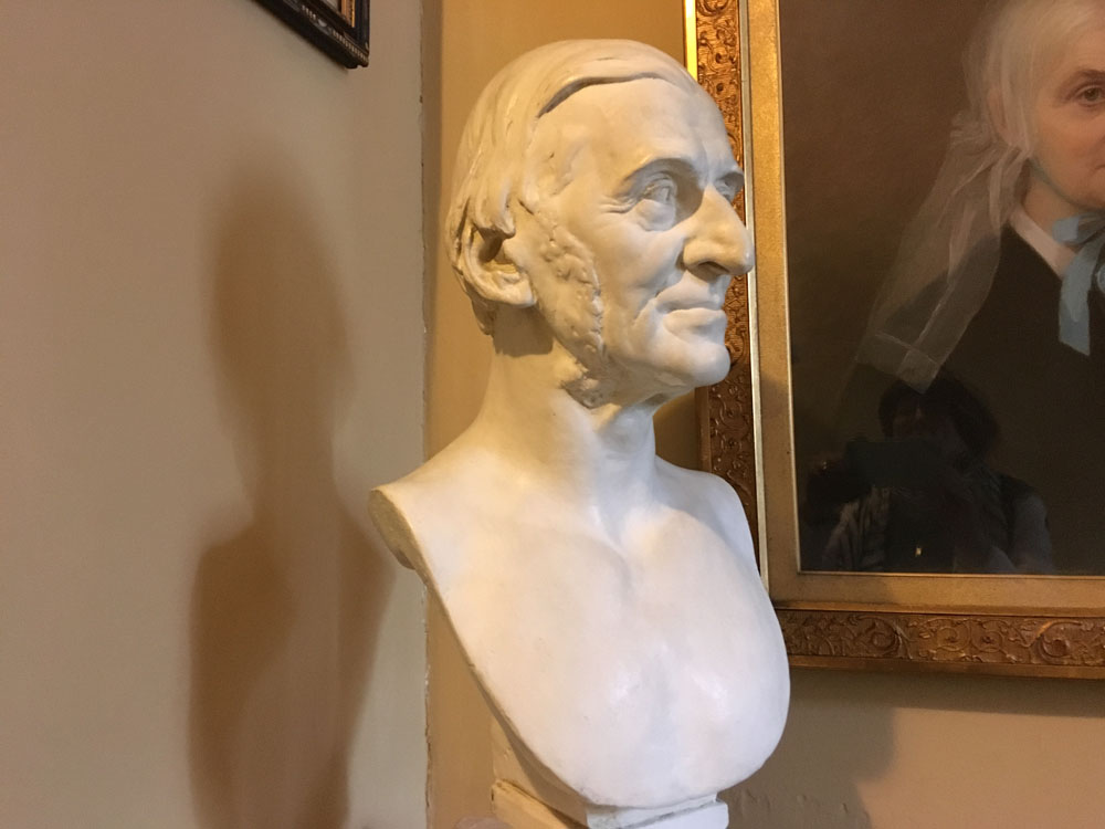 Emerson bust sculpted by Daniel Chester French