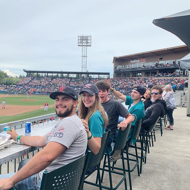 No better way to spend a Sunday than with family. Go Rainiers!