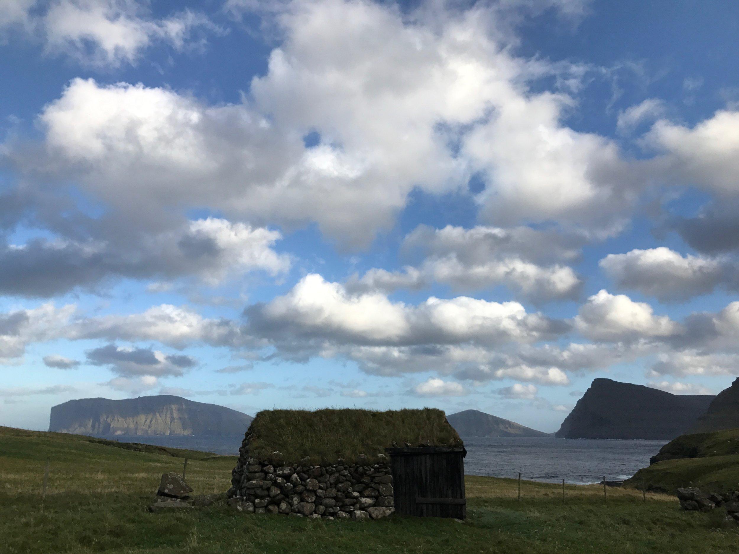 Classice Faroese architecture. Faroe Islands - September 2017