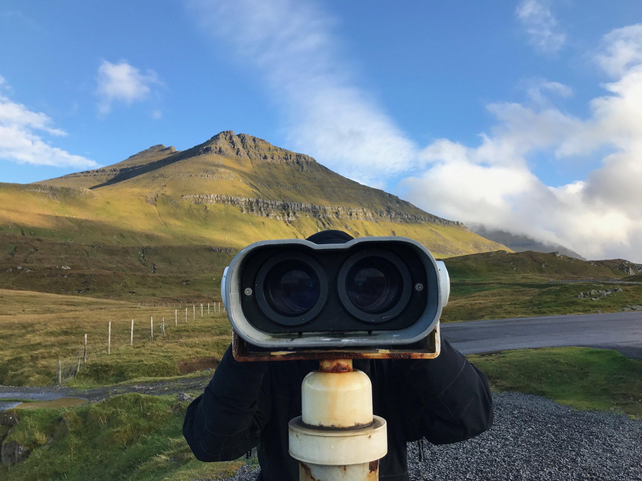 Slættaratindur, the highest Faroese peak on a sunny day. Faroe Islands - September 2017