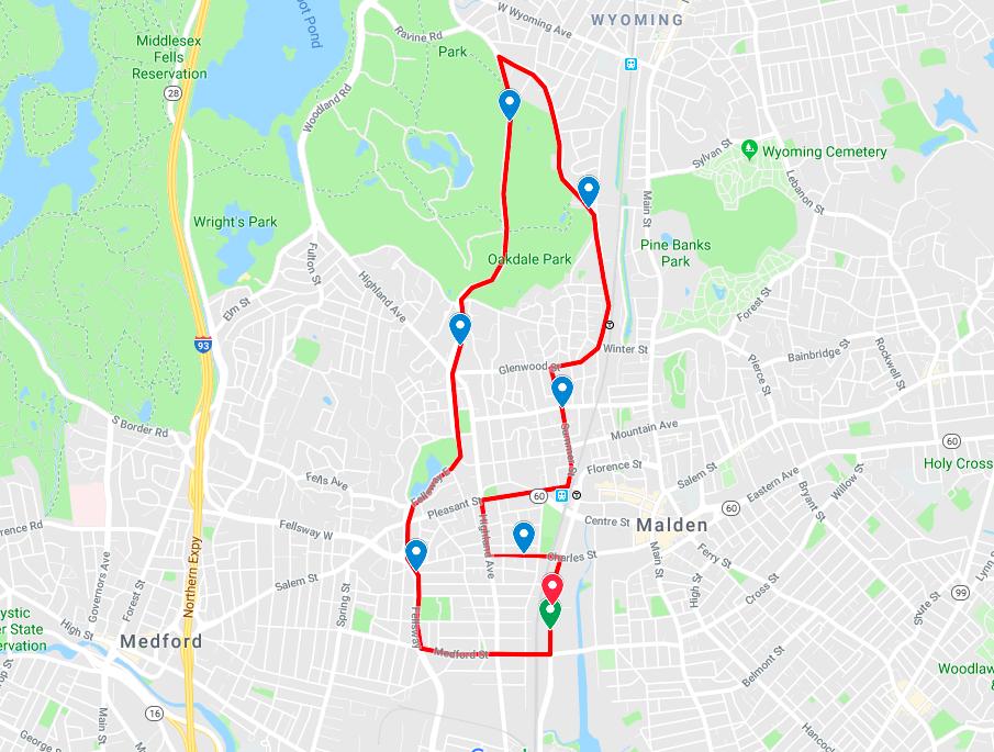 malden course map