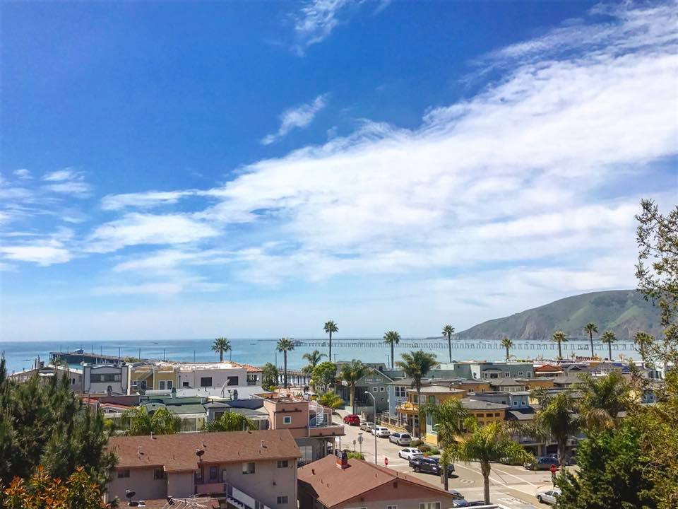 Downtown Avila Beach overlooking the Pacific Ocean