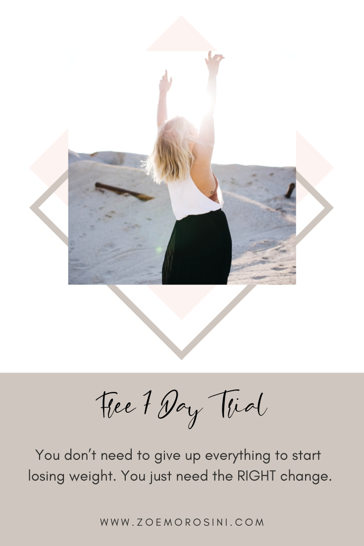 FREE 7 Day Trial weight loss program designed by Brisbane Nutritionist Zoe Morosini Click here to sign up: https://www.zoemorosini.com/habits-free-trial