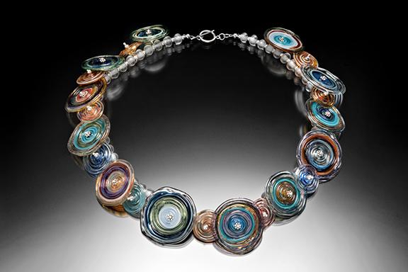 Large Disc Borosilicate Glass Necklace