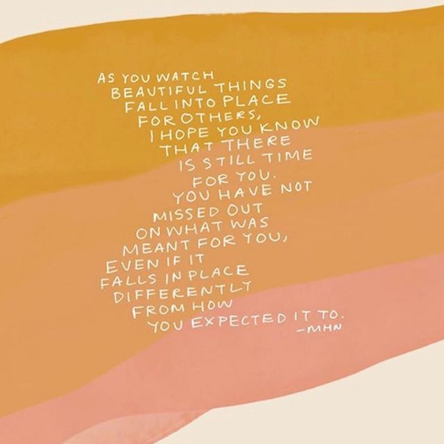Your journey does not have to fit the timeline of those around you. Do not rush things as they will fall into place as soon as you learn how to accept your place in life🥰 ⠀⠀⠀⠀⠀⠀⠀⠀⠀ Repost from: @iamthatgirl Art by: @morganharpernichols