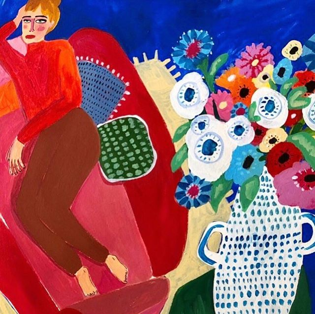 Me and my couch: a weekend love affair ❤️ Art by: ana_leovyart