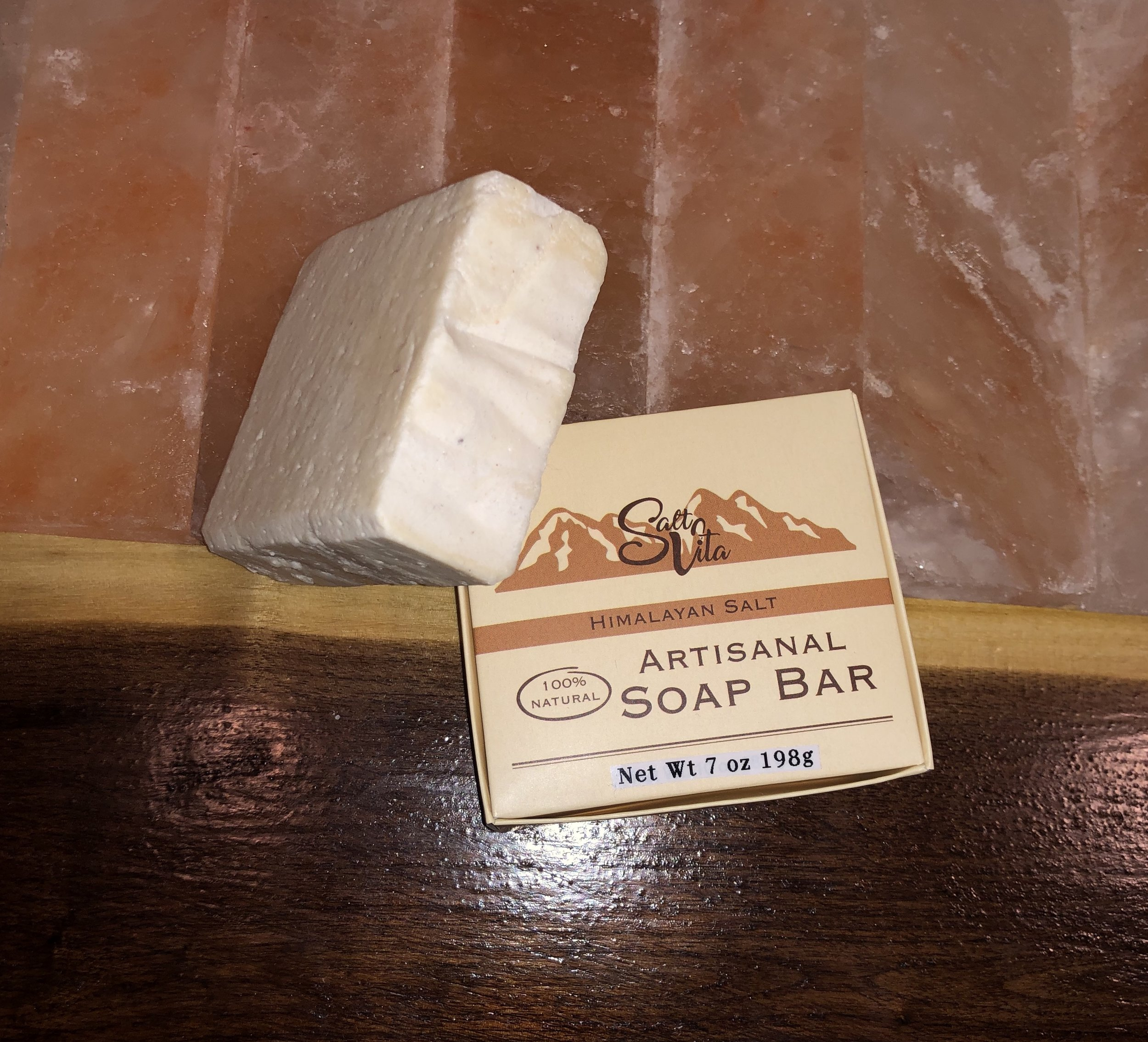 Salt Vita's natural artisan Himalayan soap bars are handcrafted in small batches using only the most nourishing and moisturizing organic and natural ingredients, and the perfect blend of 100% pure aromatherapy essential oils. Vegan friendly.