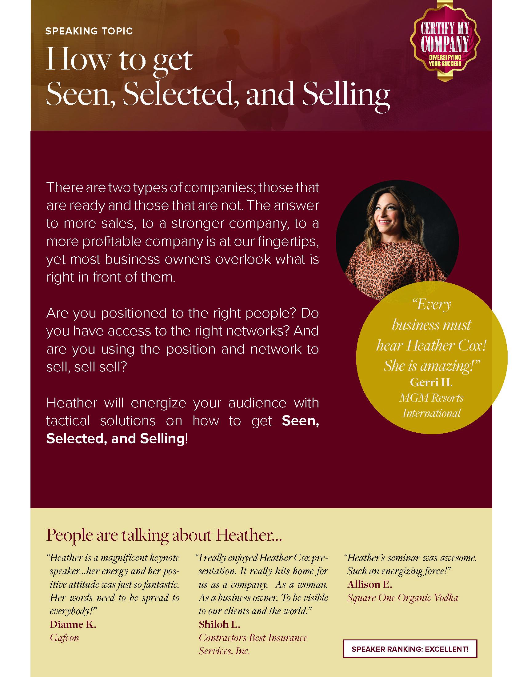 Click to download Heather's Business Development speaker sheet: