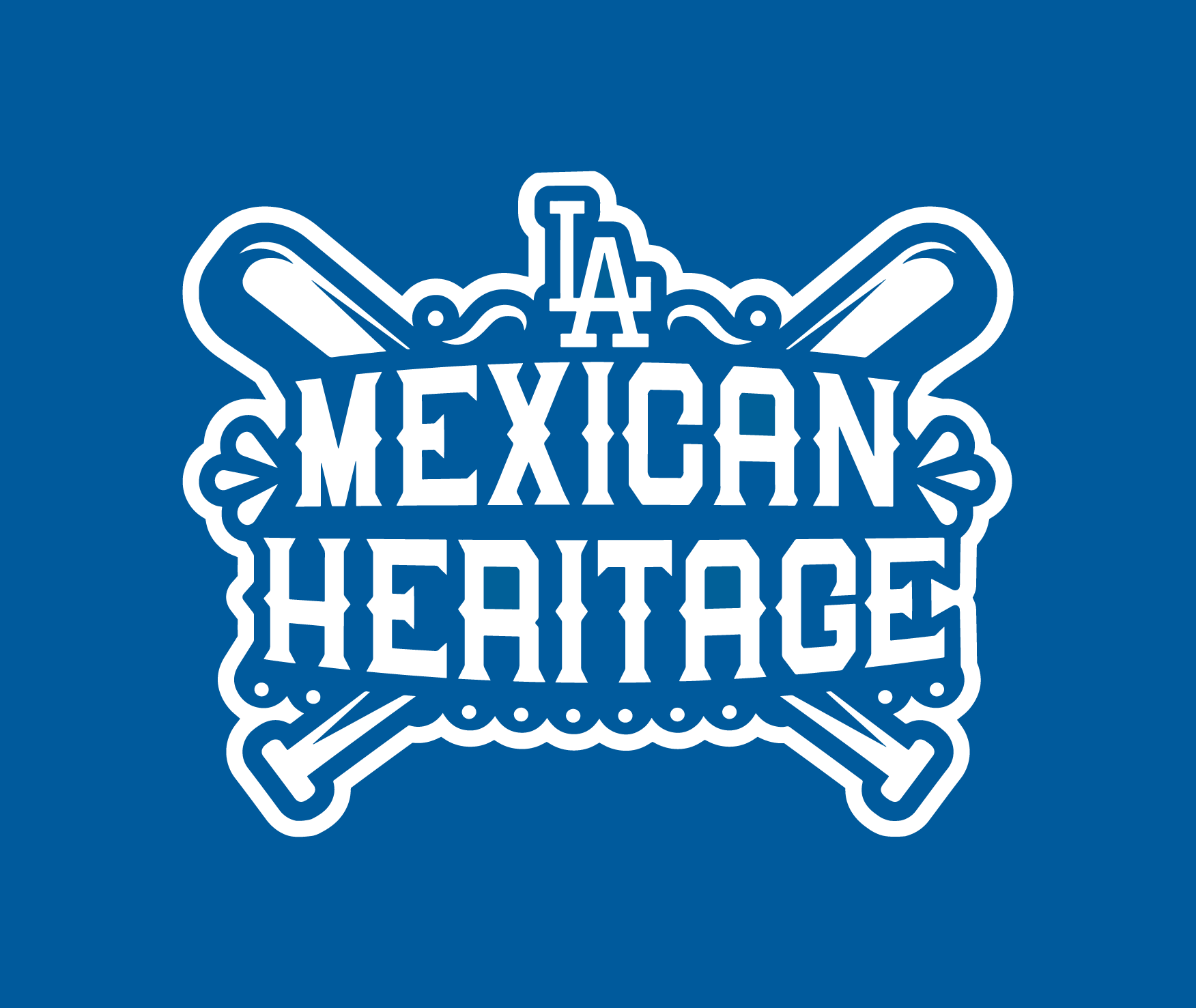 Dodgers Mexican Heritage Logo Negative Version