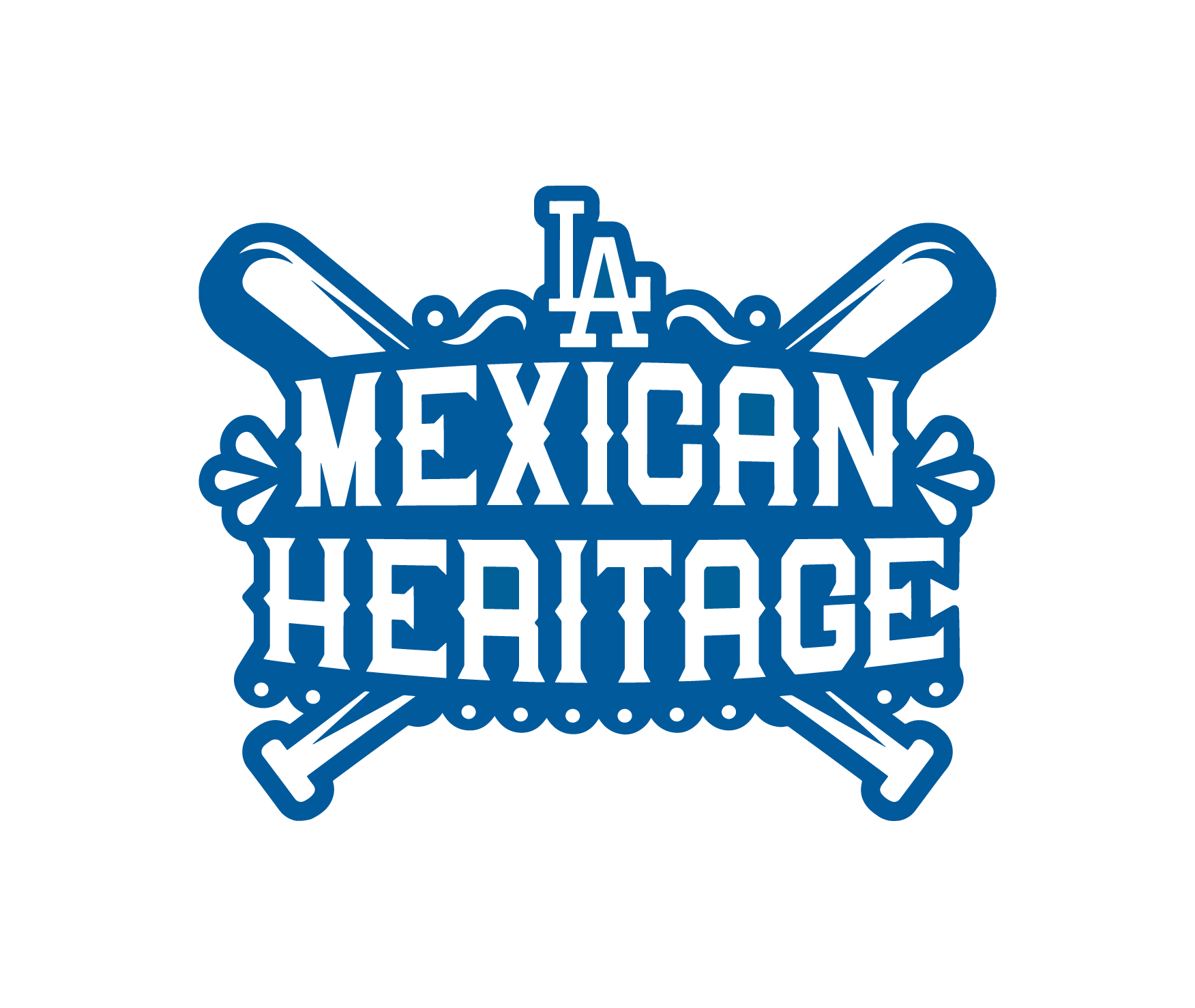 Dodgers Mexican Heritage Logo Positive Version