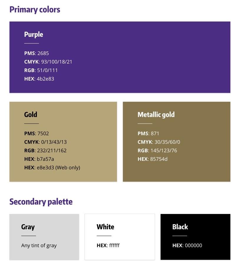 Royal color scheme