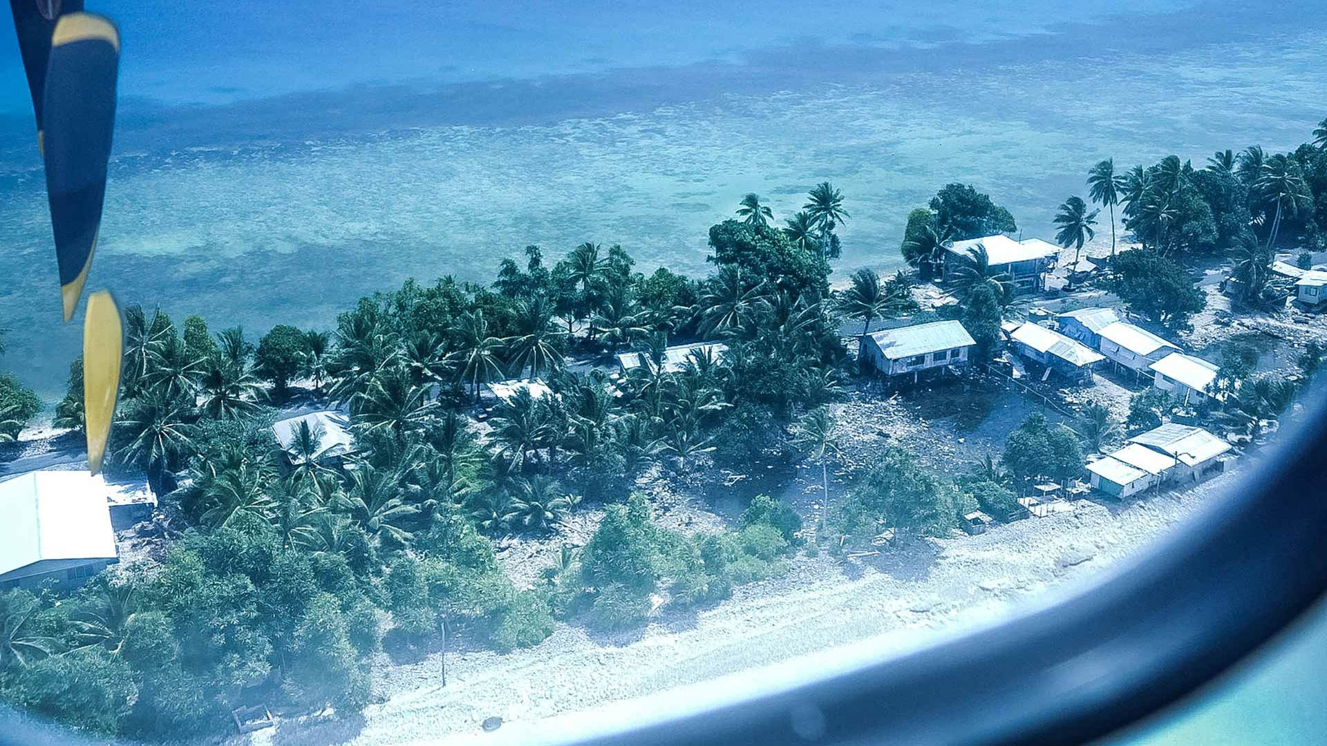 Funafuti from the air. Photo: Silke von Brockhausen/UNDP