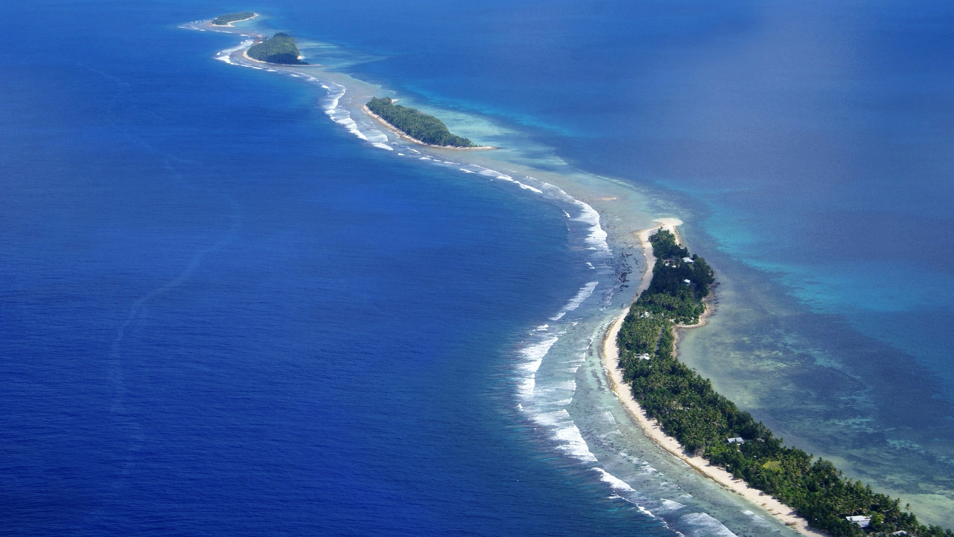 Aerial view of Fogafale, Funafuti. Photo: Bakhodir Burkhanov/UNDP