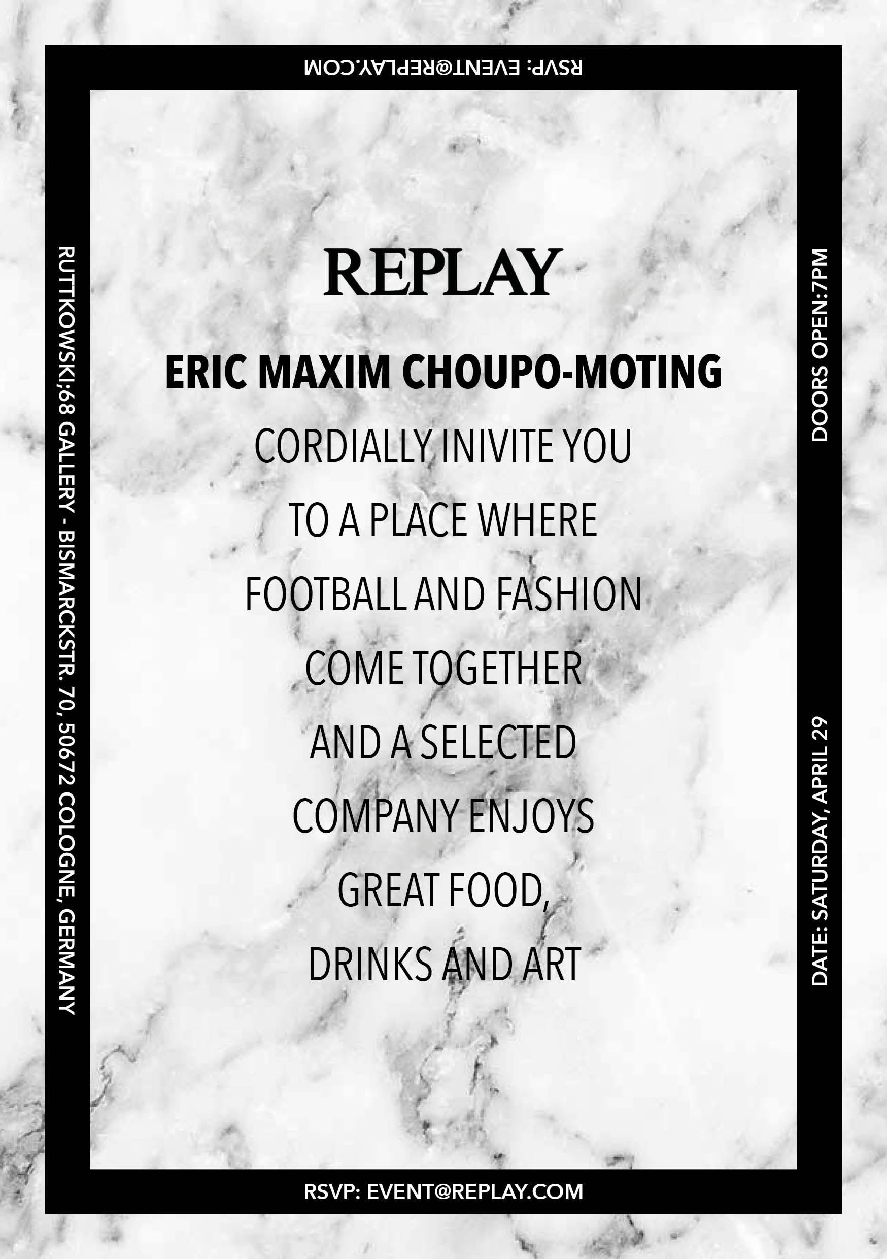 Replay Germany Dinner Hosted by Eric Maxim Choupo-Moting Football player of Stoke City FC by The Hattrick creative agency