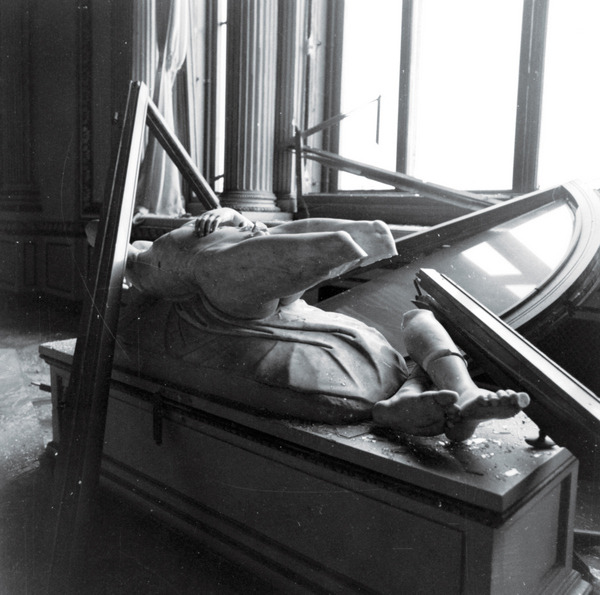 Unidentified sculpture destroyed in the  1993 car bombing  of Florence's Uffizi Gallery  More on that incident  HERE .