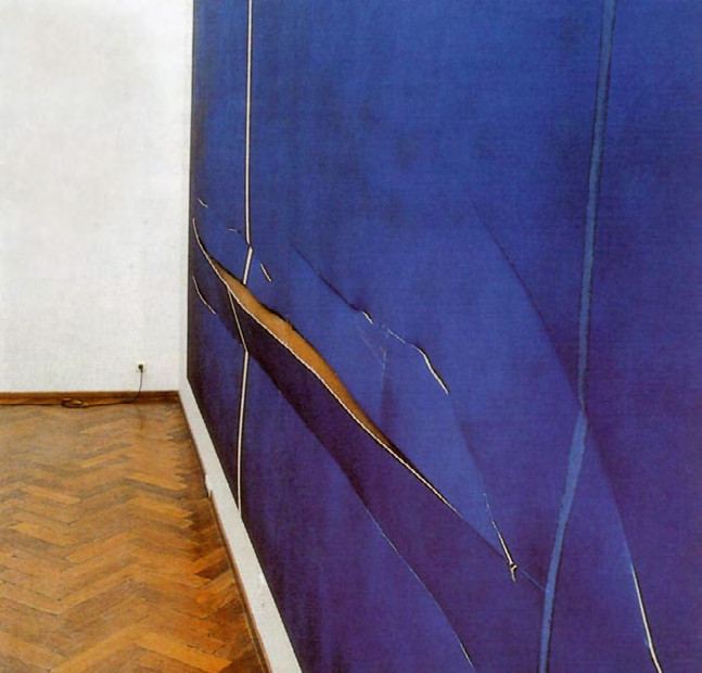 "Barnett Newman ""Cathedra"" (1951) / knife  In November 1997, this canvas was damaged while on view at the Stedelijk Museum in Amsterdam. Gerard Jan van Bladeren, 41, slashed the work seven times with a small, Stanley-brand knife. Upon completing his act, he made no attempt to flee; when museum guards apprehended him, he simply leaned against a wall and calmly waited for police.  This was not van Bladeren's first attack on a Newman canvas. In 1986, he had walked into the same museum and repeatedly slashed ""Who's Afraid of Red, Yellow and Blue III"" (1967). At that time, he was convicted and served five months in jail.  After being arrested for his attack on ""Cathedra,"" van Bladeren was interviewed on Dutch radio, where he described himself as an artist who tears his own paintings for effect and hates abstract art: ""I don't hate all art; I just hate abstract art and realism."" He also said that he felt his slashing 11 years prior had added something to ""Red, Yellow and Blue,"" and that he was angry that the painting had been restored, thereby undoing his work. In fact, he said he'd returned to the Stedelijk in order to find the painting and strike again - but instead, he found ""Cathedra.""   Museum director Rudi Fuchs described the museum's on-site response: ""We immediately closed that section of the gallery and began first aid. We laid the painting on a flat, wooden surface and taped the cuts together, so they can't crack, curl or rip further. Luckily the attacker used a very sharp knife, and before the museum acquired the painting in 1975, it had been relined, so the cuts are relatively clean."" Though the restoration process was arduous, given the monochromatic surface, the piece was eventually repaired and returned to public view.  The incident raised questions of how museums should present and protect works on display. ""It's a dilemma,"" said Carol Mancusi-Ungaro, the chief conservator of the Menil Collection in Houston, who specializes in the restoration of postwar paintings. ""These pictures are too big to be successfully seen under Plexiglas, because all you would see is the reflection of the Plexiglas."""