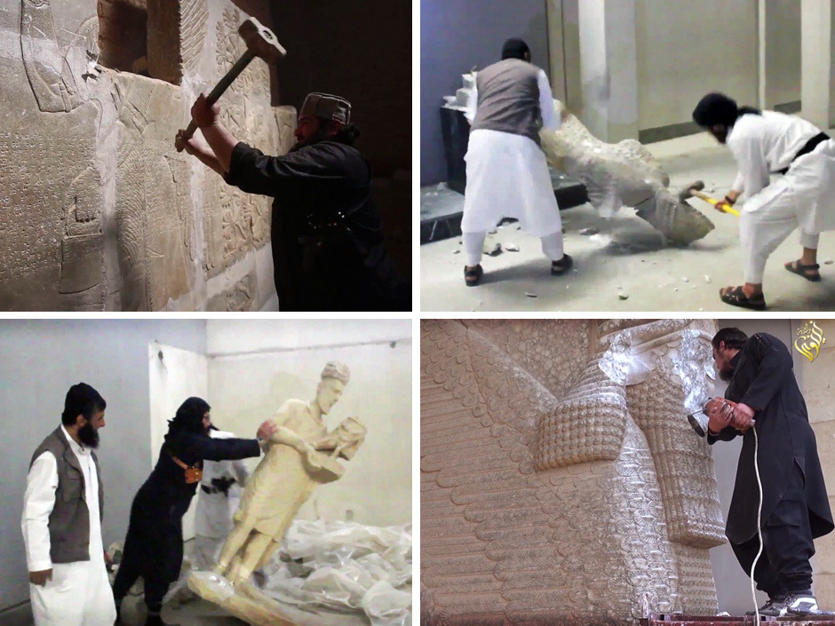 "History dies in ISIL's hands, but curators worry buying artifacts would fund terrorism    ISIL terrorists have destroyed a number of shrines in Iraq and Syria — including Muslim holy sites — to eliminate what they view as heresy.  As ISIL terrorists use power drills, bulldozers and explosives to destroy the cultural and architectural heritage of ancient Mesopotamia — Christian, Muslim and pre-Abrahamic from the ancient Assyrian capital Nimrud to the tomb of the Biblical Jonah in Mosul — western curators hoping to preserve what is left are caught in a dilemma.   Some want to buy artifacts to protect and preserve them, such as James Cuno, president of the J. Paul Getty Trust, the world's wealthiest art institution, who has described the vandalism as ""an argument for why portable works of art should be distributed throughout the world and not concentrated in one place.""  But others are loudly calling for an effective ban on trade in Assyrian antiquities and other relics from the war zone. They say the Islamic State of Iraq and the Levant is not simply eradicating the idolatry it denounces as heretical, but in fact is hypocritically selling what it can on a black market, and destroying everything else. In this view, buying artifacts to preserve them in Western galleries is tantamount to funding terrorism.  The targets of the vandalism include Shia shrines, a Christian monastery, and any relic that ISIL considers idolatrous, including prehistoric statues. Most destroyed sites are Islamic, which Reichel said is ""one of the great perversities or paradoxes."""