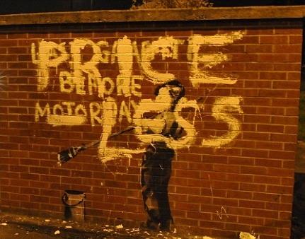 "Banksy ""Last Graffiti Before Motorway"" / paint"
