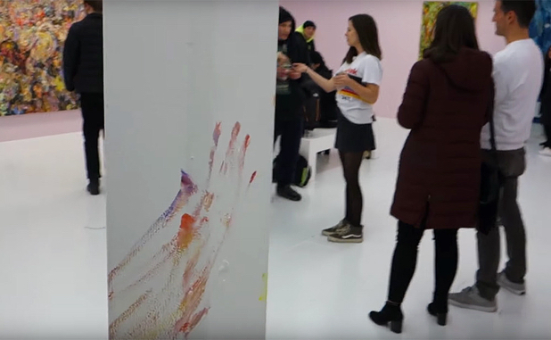 "In February 2018, a man visiting Vanessa Prager's exhibition ""In the Pink"" placed his hand on at least one of Prager's paintings and proceeded to wipe colorful streaks of paint on surfaces throughout the gallery, including walls, columns and a bench. Given the lush, textured surfaces of Prager's work, it wasn't immediately clear which painting(s) had been damaged. The man was eventually found and thrown out of the gallery. #artdamaged"