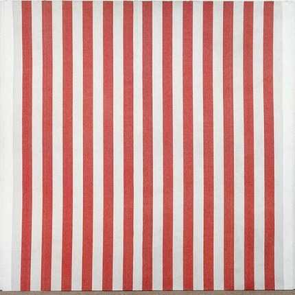 """In September 2019, Daniel Buren's 1967 painting """"Peinture (Manifestation 3)"""" was badly slashed by a museum visitor with a knife while on view at the Centre Pompidou in Paris. The attacker, who was arrested on-site, had no apparent motives for his action and is currently undergoing psychiatric evaluations. The painting has been removed from public view, so experts can assess the damage and decide on an approach for restoration. #artdamaged"""