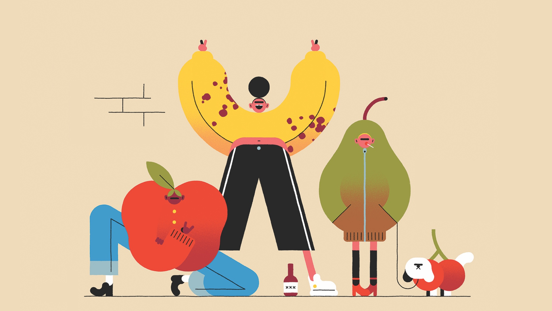 Obst und Gemüse -