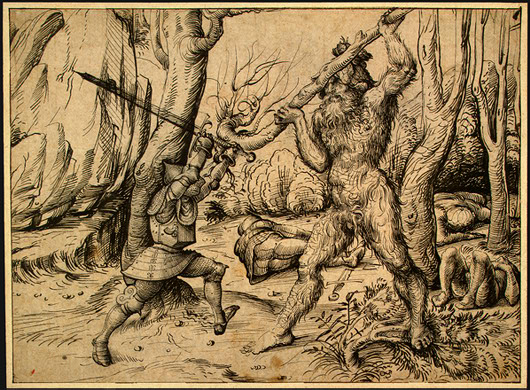 The Fight in the Forest, by Hans Burgkmair (ca 1500).