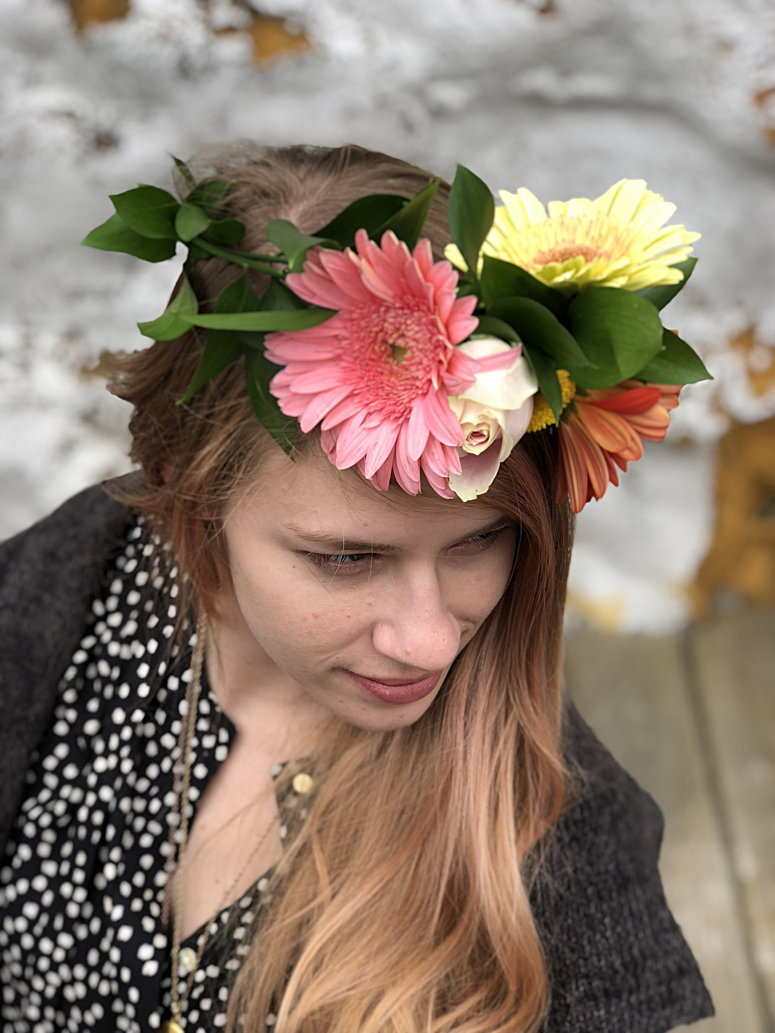Flower Crowns - Our flower crowns ($15 small or $25 large) are perfect for any special loved one or guest. We also provide them for prom, homecoming, and other school functions. Our lovely designs bring flowers and foliage together. With your primary color palette in mind, our corsages offer a distinct look.