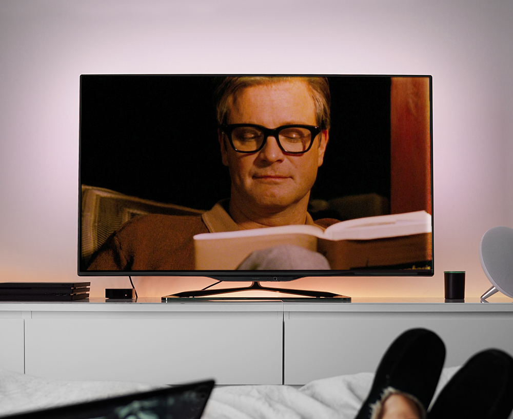 Watch Colin Firth read to you in the comfort of your hotel room.