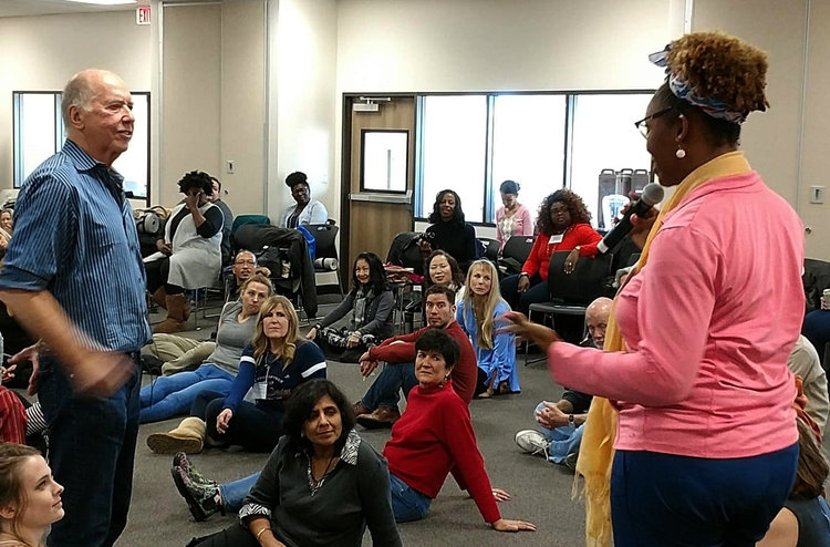 Large-group session at the first Professional Training Program in Houston, December 2017
