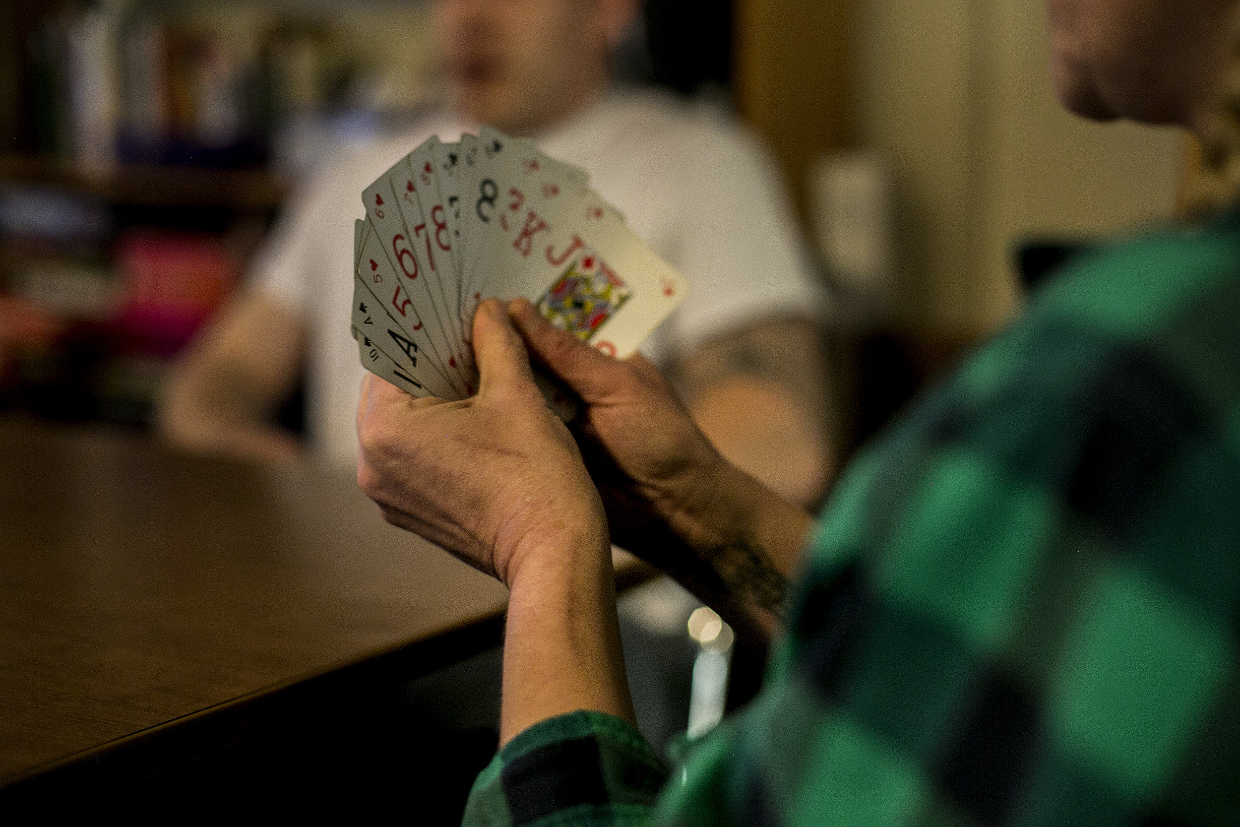 "Track marks run up Phillips' arms as she plays poker with the men in the facility. She describes herself as a ""chronic relapser"" and attributes a lot of her past failure to get sober to alcohol, which she assumed she could use in moderation. ""Alcohol always leads me back to drugs,"" she says. ""And it's going to kill me."""