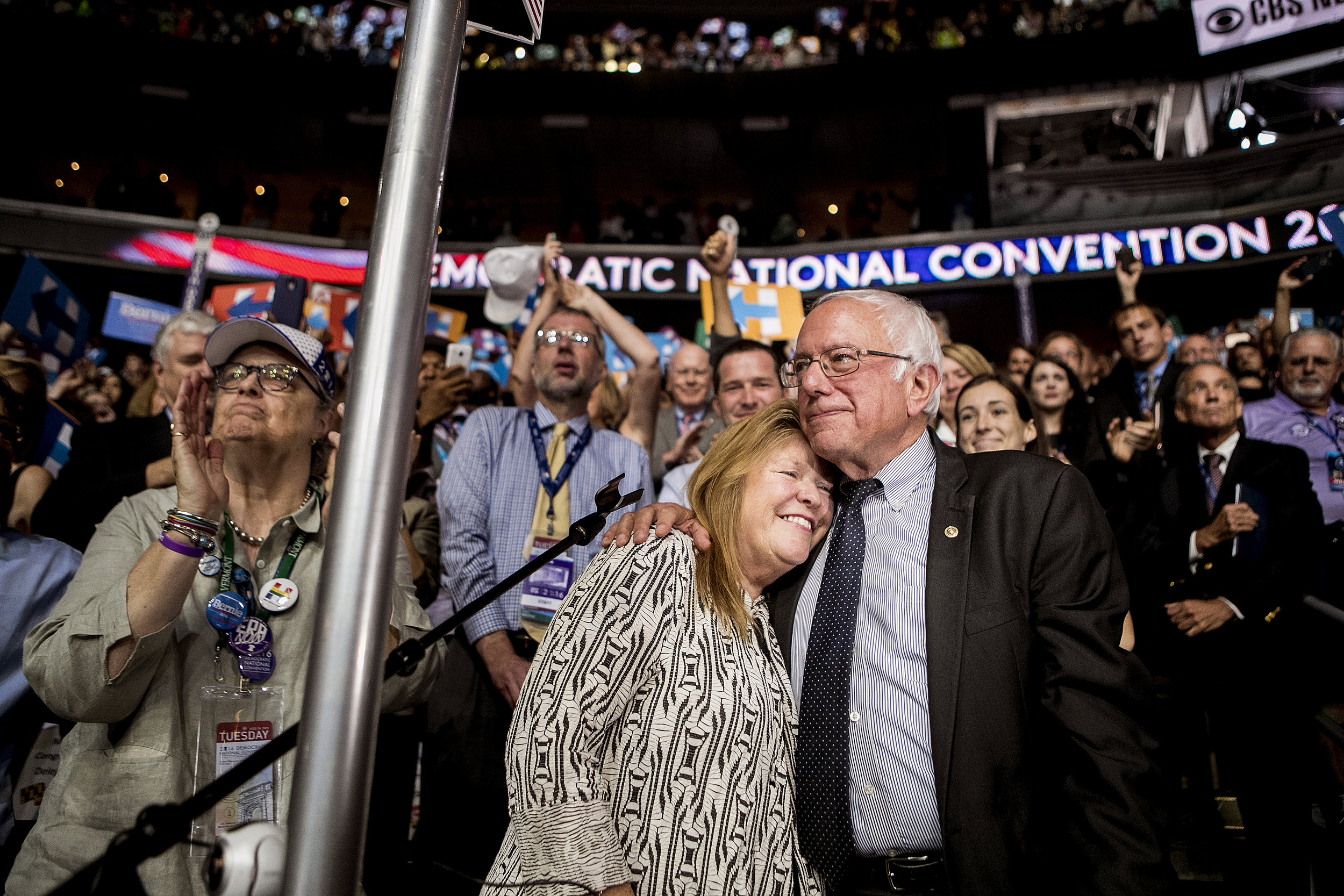 Bernie and Jane, as the campaign comes to a close.