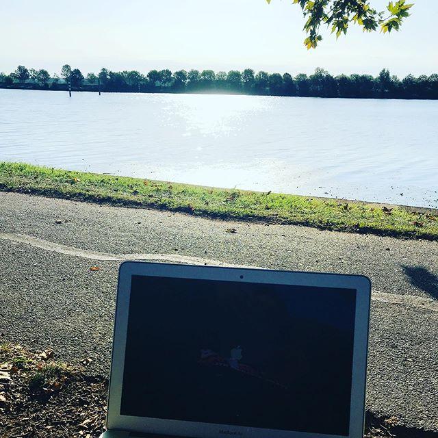 Bureau du matin ... #enjoytheday#bosserdehors #❤️