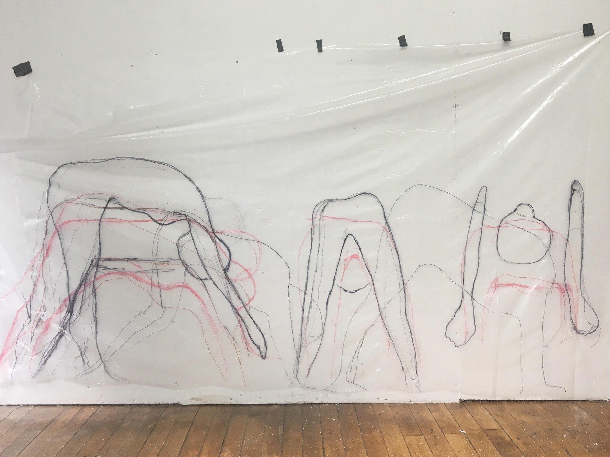 Work in progress in the studio